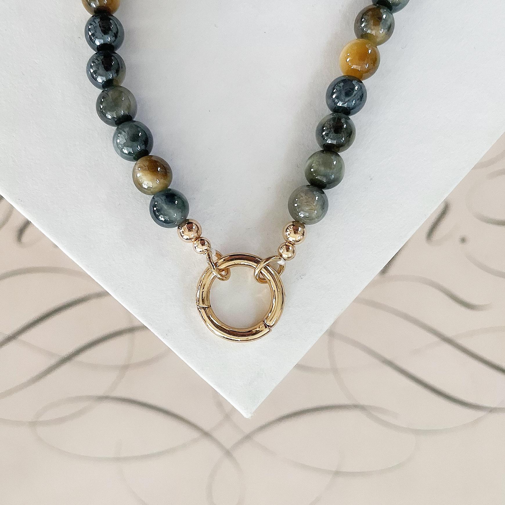 Infinite Loop Tigers Eye Necklace